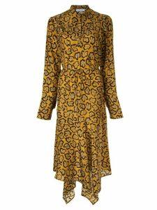 Christian Wijnants asymmetric printed dress - Brown