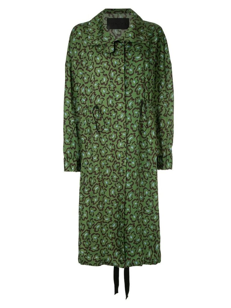 Christian Wijnants oversized printed coat - Green