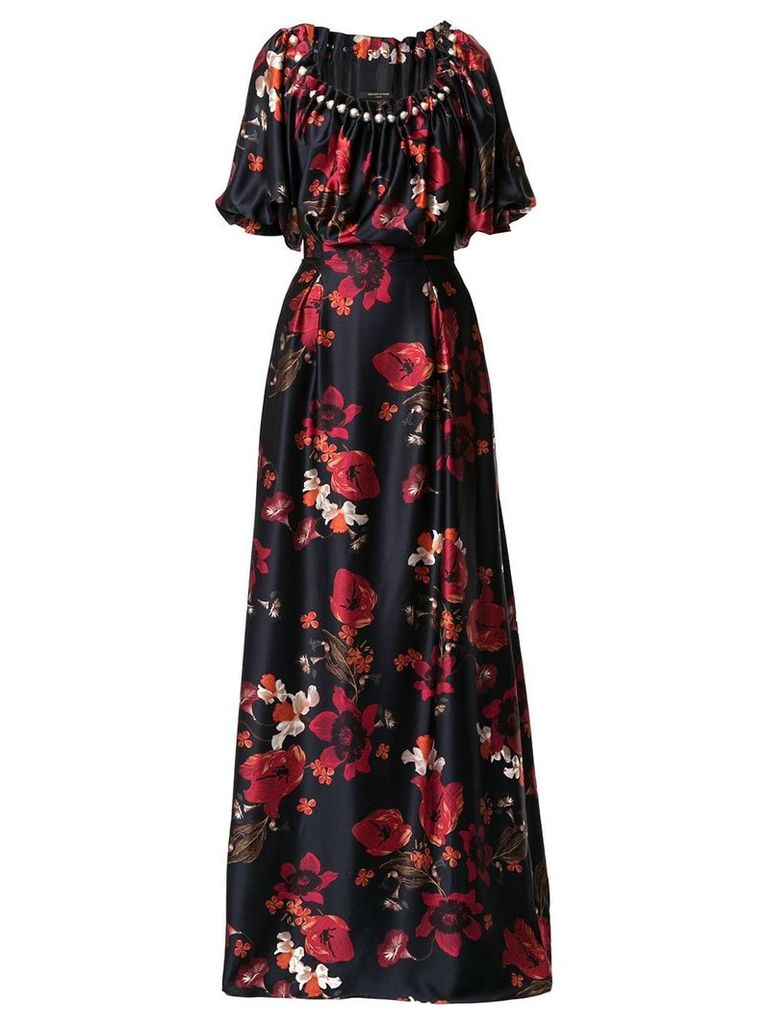 Mother Of Pearl long floral print dress - Black