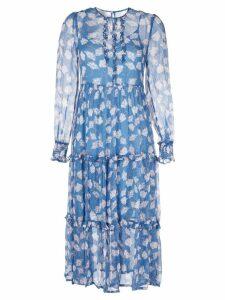 Baum Und Pferdgarten floral print midi dress - Blue
