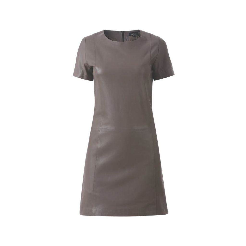 ELLESD - Taupe Classic Leather Dress