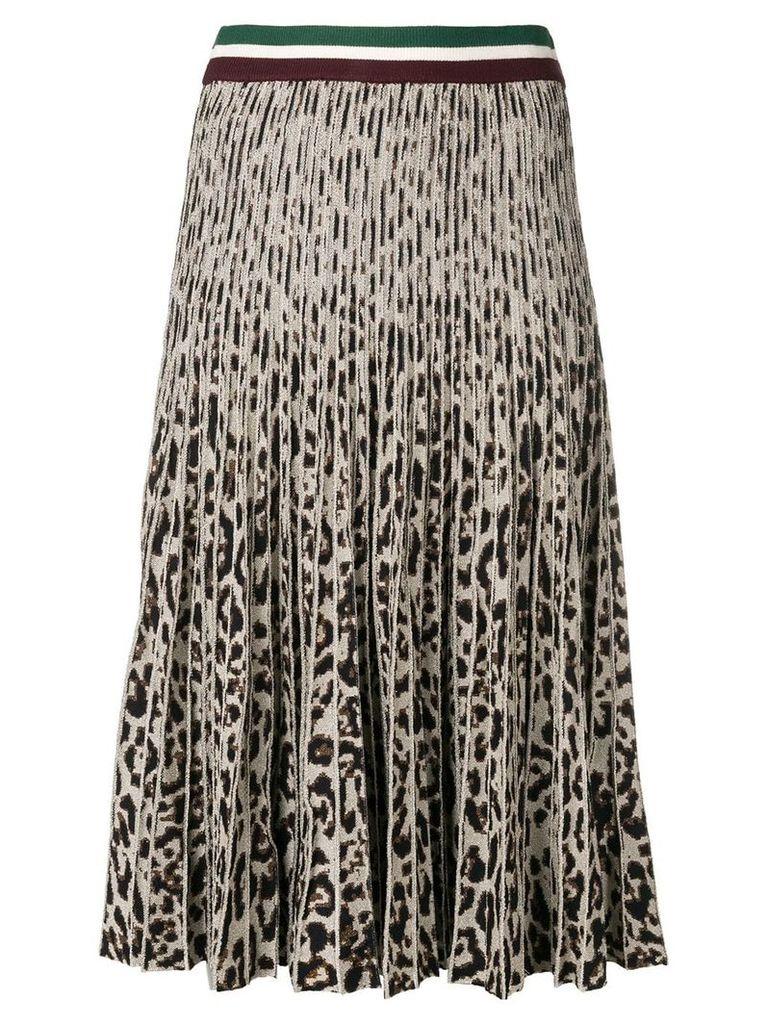 Baum Und Pferdgarten pleated leopard print skirt - C8111 Lurex Leopard