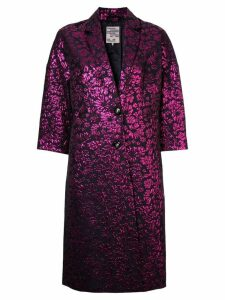 Baum Und Pferdgarten floral print single-breasted coat - Black