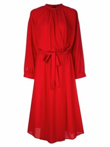 Joseph belted midi dress - Red