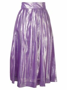 Baum Und Pferdgarten metallic pleated midi skirt - Purple
