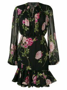 Giambattista Valli balloon sleeve floral mini dress - Black
