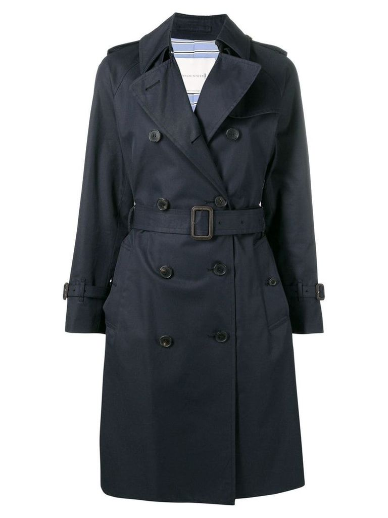 Mackintosh Ink Cotton Trench Coat LM-040F - Blue