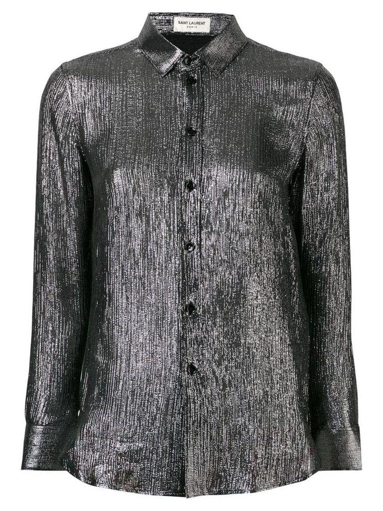 Saint Laurent metallic shirt - Silver