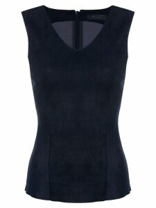 Drome lambskin fitted top - Blue