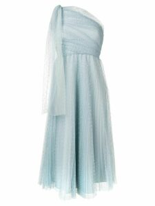 Red Valentino one-shoulder tulle dress - Blue