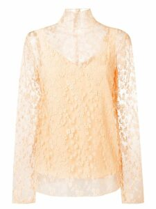 Chloé sheer floral blouse - Pink