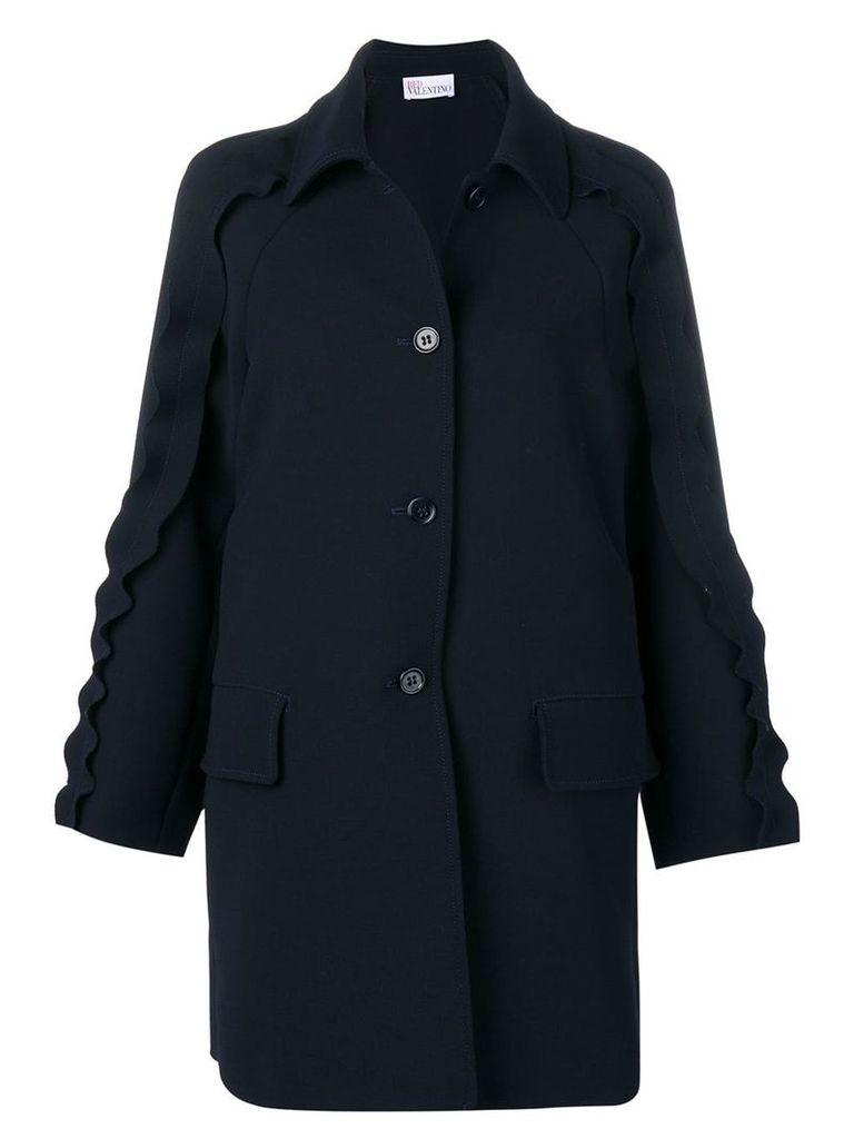 Red Valentino ruffled coat - Blue