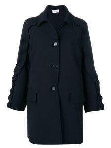 Red Valentino ruffled coat - Blue