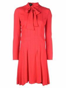 Giambattista Valli pussy bow dress - Red