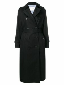 Mackintosh Black Cotton Long Trench Coat LM-041F