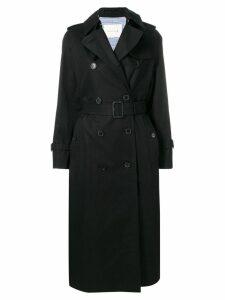 Mackintosh Black Cotton Long Trench Coat LM-041F