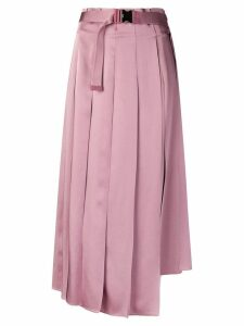 Fendi pleated midi skirt - Pink