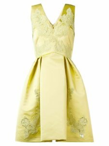 Zuhair Murad embroidered flared dress - Yellow