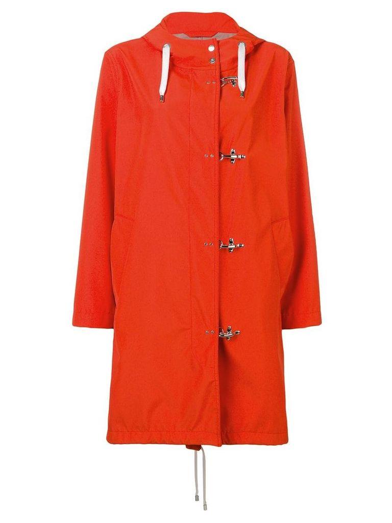 Fay concealed front coat - Orange