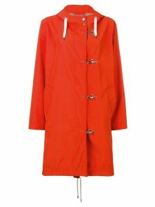Fay concealed front coat - Orange