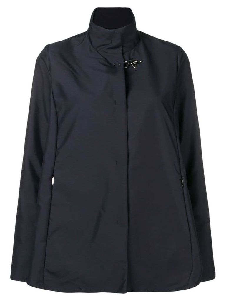 Fay concealed front jacket - Blue