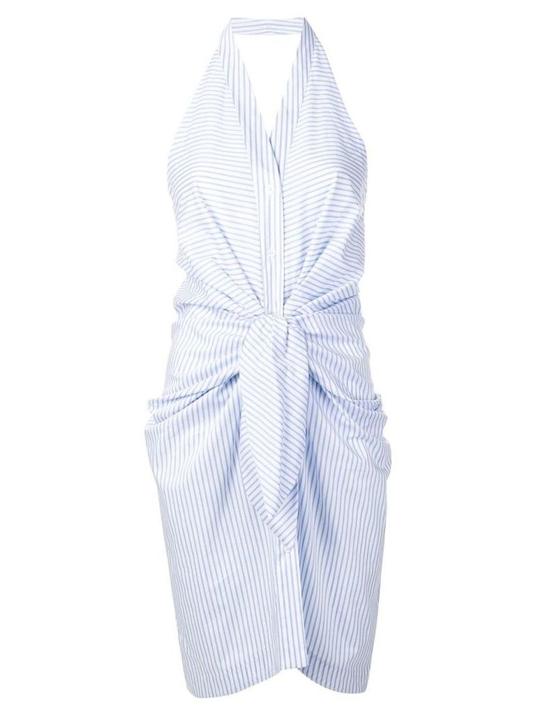 Blugirl striped halterneck dress - Blue