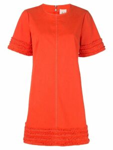 Cinq A Sept Ashton frayed-trim dress - ORANGE