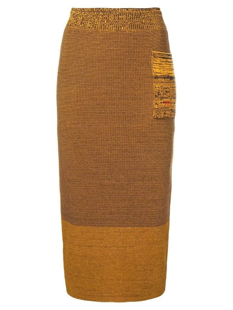 Victoria Beckham fitted knit skirt - Yellow