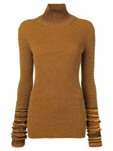Victoria Beckham fitted turtle neck top - Yellow