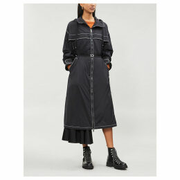 Dacca contrast-trim quilt-lined shell coat