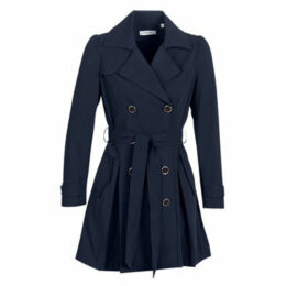 Naf Naf  BISOU  women's Trench Coat in Blue