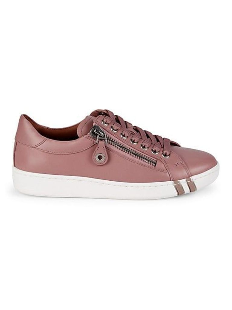 Wiona Side Zip Leather Platform Sneakers