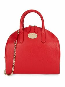 Pebbled Leather Dome Satchel