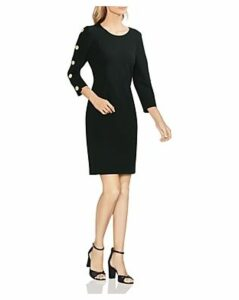 Vince Camuto Button-Sleeve Sheath Dress