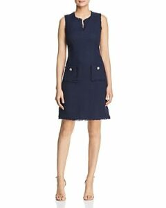 Karl Lagerfeld Paris Tonal Tweed Pocket Dress