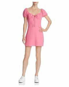 Cotton Candy Puff-Sleeve Mini Dress