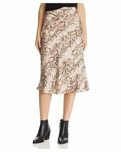Lucy Paris Snake Print Slip Skirt