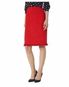 L.k.Bennett Myia Fringed Tweed Skirt