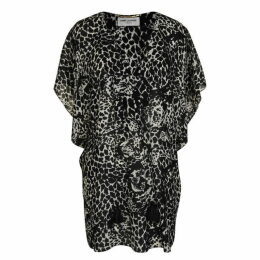 Saint Laurent Leopard Kaftan Dress