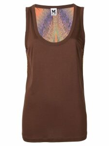 Missoni Pre-Owned back printed tank top - Brown