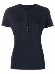 Gucci Pre-Owned button detailed T-shirt - Blue