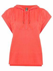 Adidas By Stella Mccartney Hooded Tee top - Orange