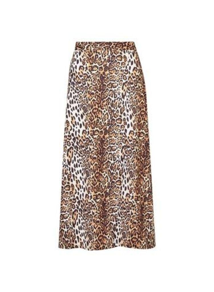 Womens **Tall Multi Colour Jersey Animal Print Skirt- Black, Black