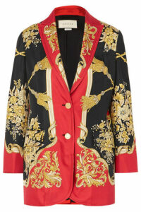 Gucci - Printed Silk-twill Blazer - Red