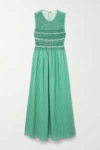 CASASOLA - Double-breasted Wool, Silk And Linen-blend Blazer - Crimson