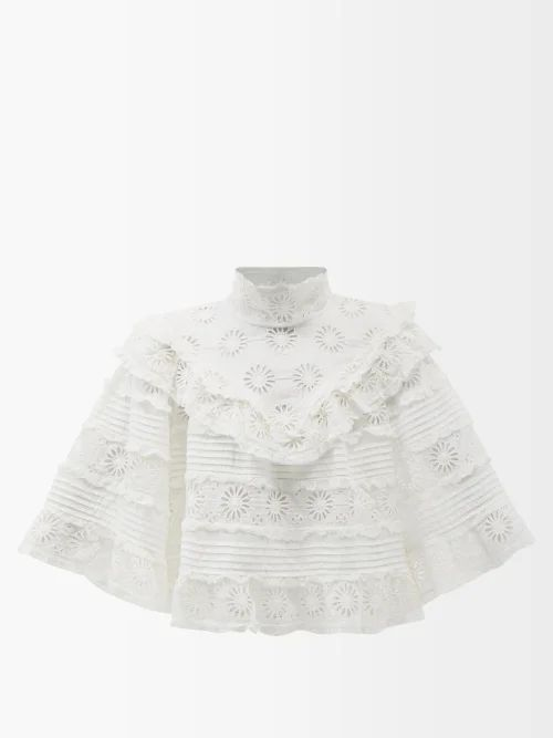 Thorsun - Georgie Hummingbird Print Cotton Poplin Shirt - Womens - Blue Multi