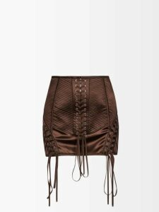 A.p.c. - Ava Checked Cotton Twill Trench Coat - Womens - Beige Multi