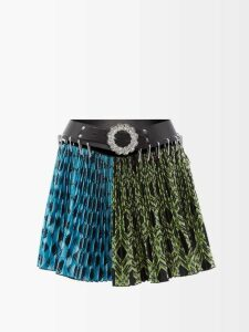 Rebecca Taylor - Ruffle Hem Cotton Blend Tweed Bouclé Skirt - Womens - Ivory