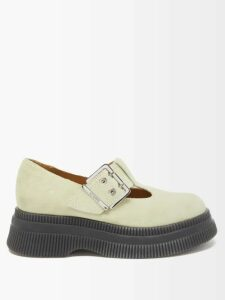 Rebecca Taylor - Polka Dot Ruffled Pencil Skirt - Womens - Navy White