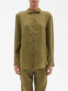Bottega Veneta - Back Button A Line Cotton Skirt - Womens - Beige